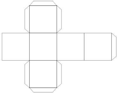 вы сделаете куб из бумаги,